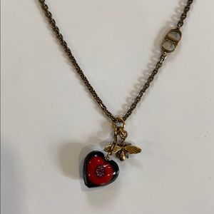 Christian Dior brass necklace